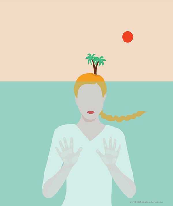 Like an island - Illustration ©Annalisa Grassano, 2018