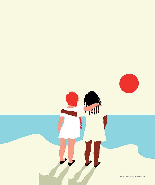 No border - Illustration ©Annalisa Grassano, 2018